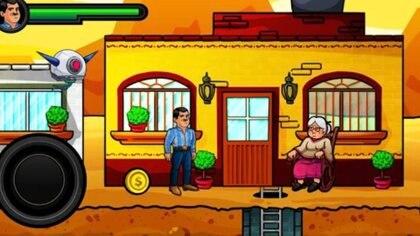 En las imágenes del videojuego sale un a anciana que recuerda mucho a la madre de Joaquín Guzmán en la vida real Foto: Captura de pantalla El Chapo The Game
