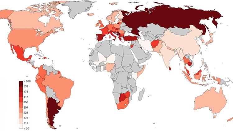 El Mapa Del Día Los Países Con Más Cantidad De Policías