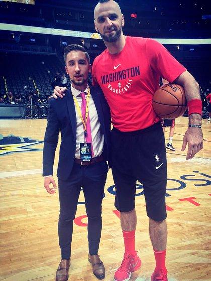 Raval Jock with former Washington Wizards and Orlando Magic Marcin Gurtat (Image: rafjuc)