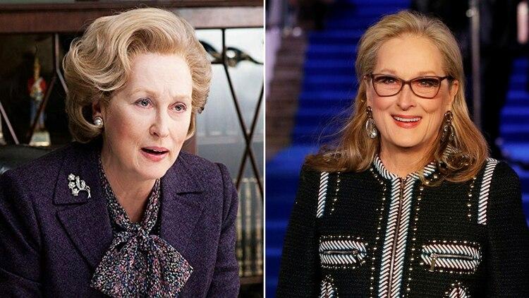 Meryl Streep como Margaret Thatcher en La Dama de Hierro