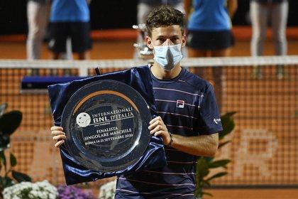 En la final de Roma tuvo sus chanes, pero cayó ante Novak Djokovic (REUTERS/Riccardo Antimiani)