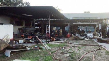 El complejo quedó parcialmente destruido