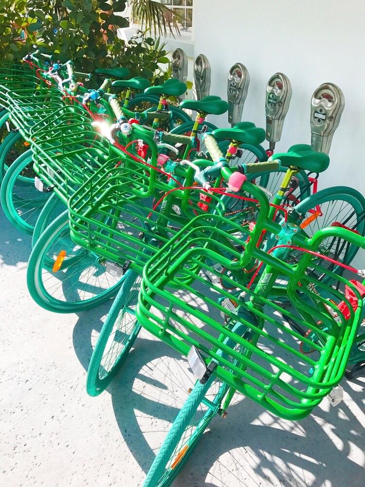 Bicicletas para recorrer por la Av Collins, una de las principales de Miami (Links WorldGroup)