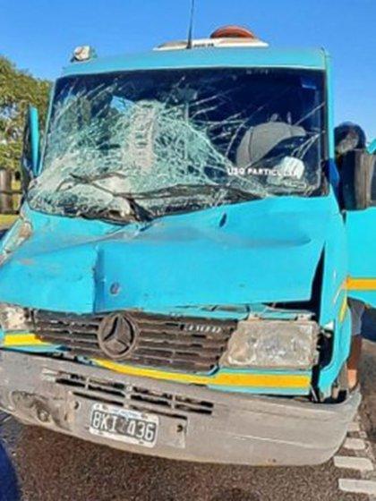 El estado final de uno de los vehículos afectados en el accidente