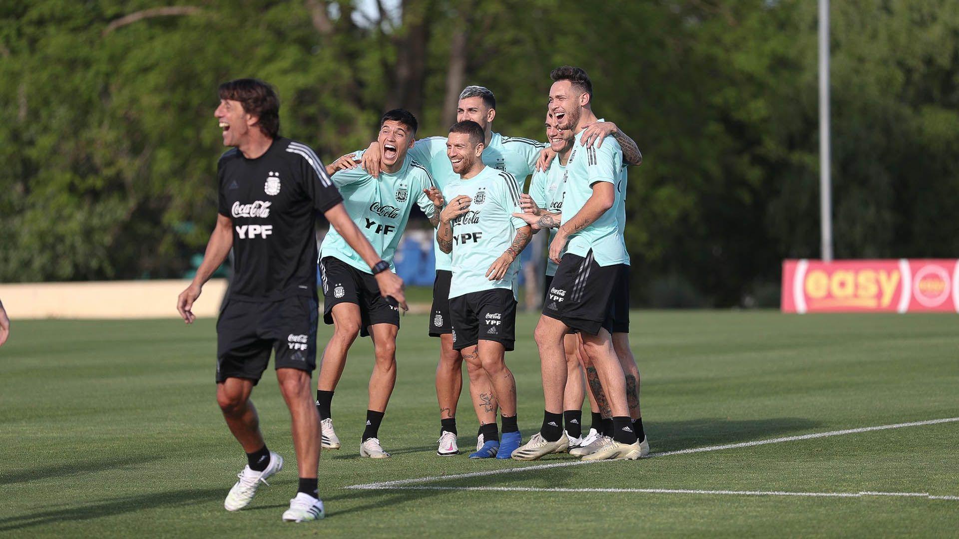 entrenamiento de la Selección