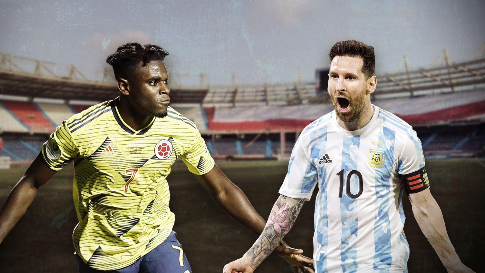 previa colombia vs argentina collage