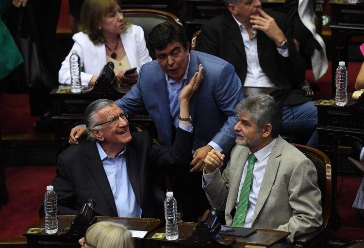 José Luis Gioja, Fernando Espinoza y Daniel Filmus (Maximiliano Luna)