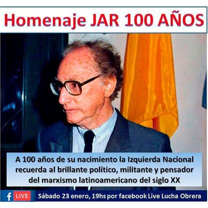 El escritor será homenajeado este 23 de enero, al cumplirse los cien años de su nacimiento en 1921