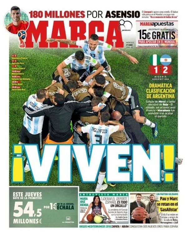 "La tapa de Marca de España: ""¡Viven!"""