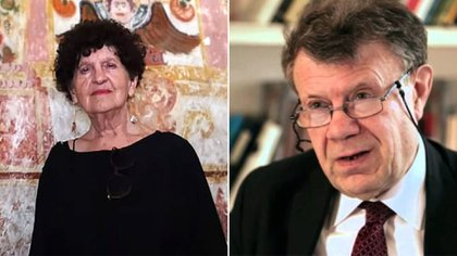 Margó Glantz y Roger Chartier