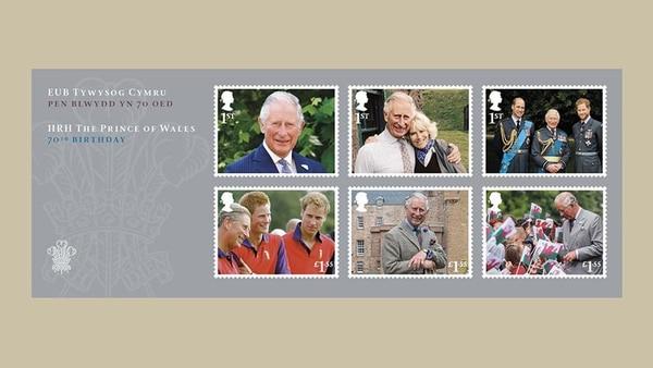 La colección en conmemoración del cumpleaños número 70 del Príncipe Carlos