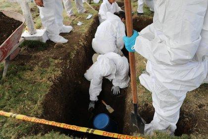"""15/12/2019 Exhumaciones de la Jurisdicción Especial para la Paz (JEP) por """"falsos positivos"""". Foto: JEP"""
