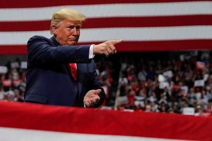 Donald Trump durante un acto de campaña en Charlotte, Carolina del Norte (Reuters/ Carlos Barria)