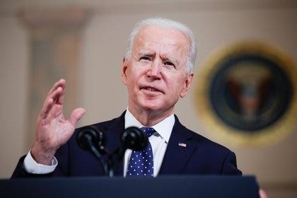 El presidente Joe Biden también se pronunció sobre el veredicto de la justicia contra Derek Chauvin (REUTERS/Tom Brenner)