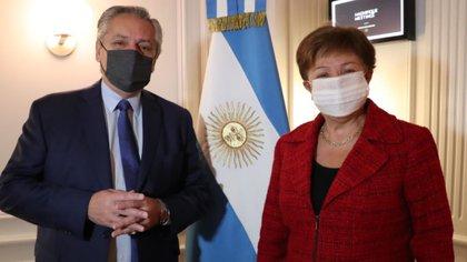 Comenzó la reunión entre Alberto Fernández y Kristalina Georgieva para negociar la deuda y debatir la agenda global post COVID-19
