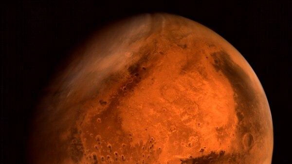 Las concentraciones de oxígeno molecular son particularmente altas en la regiones polares de Marte (AFP)