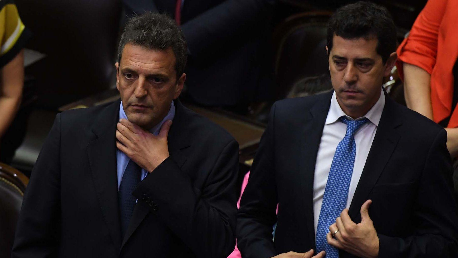 Sergio Massa y Wado de Pedro encabezaron los diálogos por las PASO de parte del oficialismo (Maximiliano Luna)