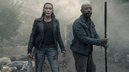 """Alycia Debnam-Carey interpreta a Alicia Clark y Lennie James es Morgan Jones en """"Fear the Walking Dead"""" (Foto: Ryan Green/AMC)"""