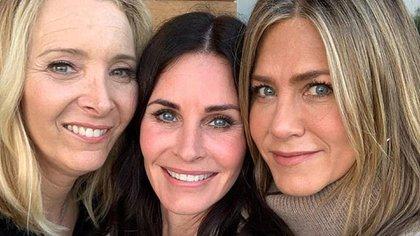 Courteney Cox celebró sus 55 años con Jennifer Aniston y Lisa Kudrow