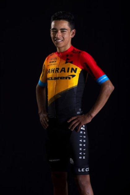 Santiago Buitrago, bogotano de 20 años, miembro del equipo Brahim McLaren