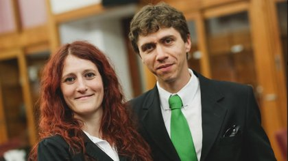 Ezequiel Pawelko y Nadia Barreiro son los creadores de Aerolidar, ganadores de un reciente premio