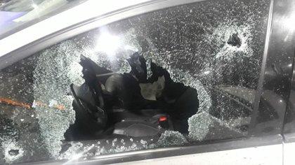 El vidrio baleado