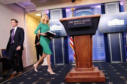 Attachée de presse de la Maison Blanche Kayleigh McEnany.  REUTERS / Carlos Barria