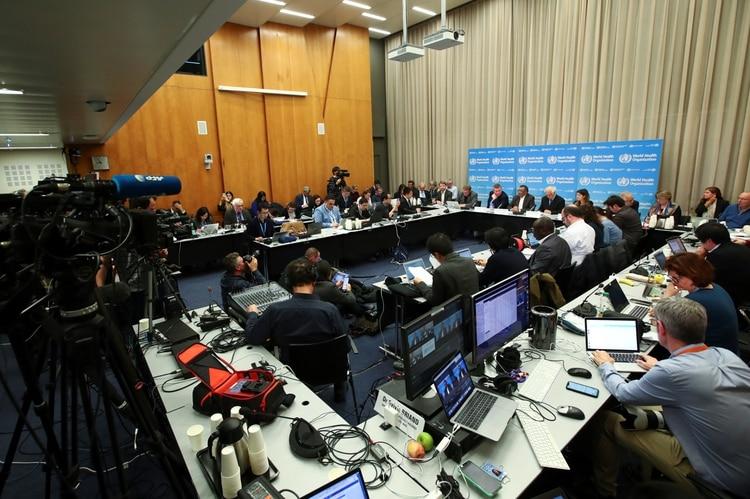Conferencia de prensa de la OMS (REUTERS/Denis Balibouse)