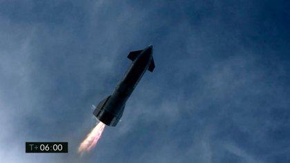 El prototipo de SpaceX SN10 (Photo by Jose ROMERO / SPACEX / AFP)