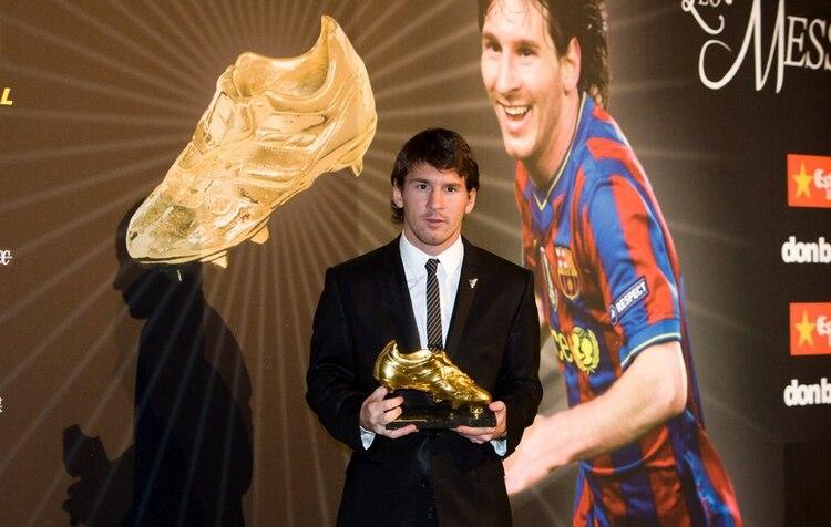Lionel Messi y su primera vez como Bota de Oro en la temporada 2009/2010 (Barcelona)