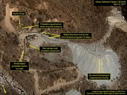 Imágenes satelitales de la base militar norcoreana (AFP)