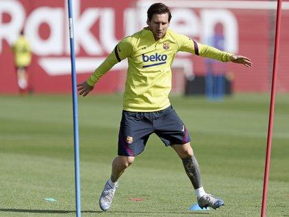 Lionel Messi se pone a punto para volver a la competencia con el FC Barcelona (EFE/FC Barcelona/Miguel Ruíz)