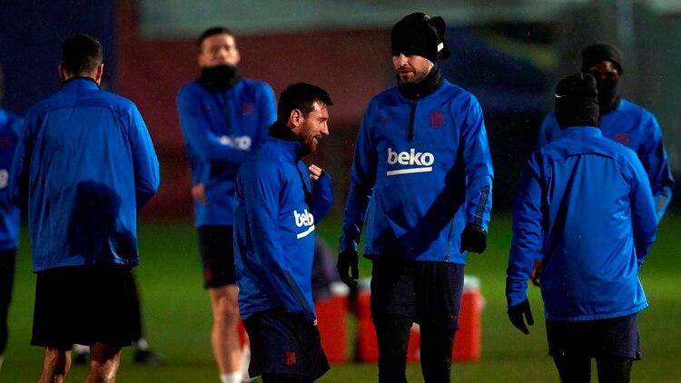 Lionel Messi fue el primero en publicar el comunicado, mientras que Gerard Piqué fue el único que no lo replicó (EFE)