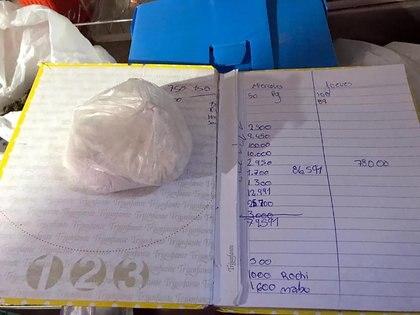 """Cocaína encontrada en la casa de """"La Chona."""" (Policía de la Ciudad de Buenos Aires)"""