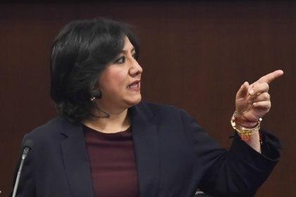 Irma Eréndira Sandoval Ballesteros, secretaria de la Función Pública, aseguró que su esposo es una persona excepcional (Foto: Mario Jasso / Cuartoscuro)