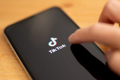 Vista del logo de la aplicación TikTok.