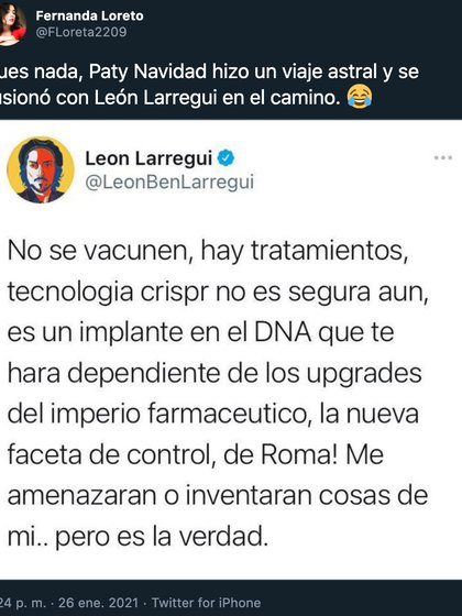 León Larregui y Paty navidad son personas notables del mundo de la farándula que han dado mucho de qué hablar (Foto: Twitter)
