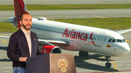 Nayib Bukele aseguró que en el vuelo de Avianca viajaban 12 personas con covid-19  (Foto: Twitter@PresidenciaSV/Instamgram@avianca)