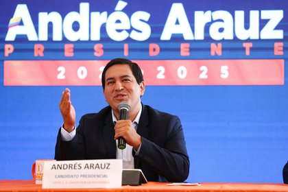 El candidato correísta a la Presidencia ecuatoriana, Andrés Arauz, fue el más votado en las elecciones del domingo pero no alcanzó el porcentaje necesario para ganar rn primer vuelta (EFE)
