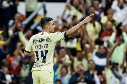 El jugador de América Nicolás Benedetti también dio positivo (EFE/José Méndez/Archivo