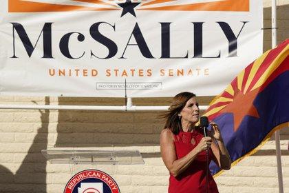 La senadora republicana Martha McSally (AP Photo/Ross D. Franklin)