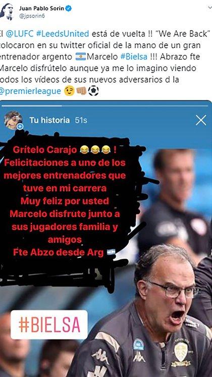 El mensaje de Juan Pablo Sorín para Marcelo Bielsa