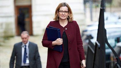 Amber Rudd, la ministra del Interior del Reino Unido