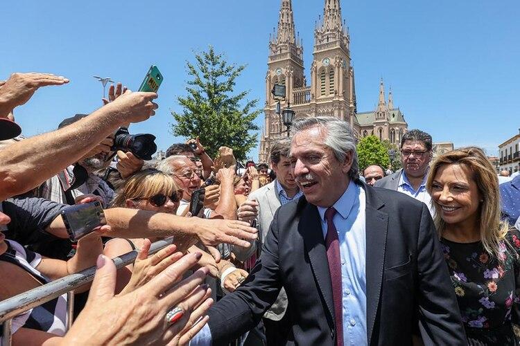 El presidente electo, ayer en la Misa de la Unidad en Lujan
