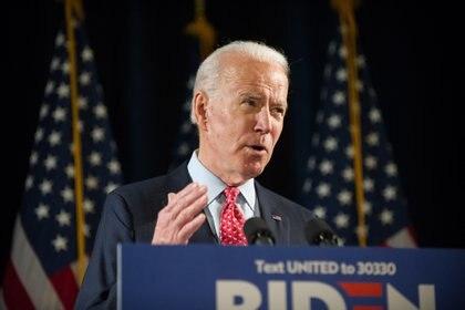 En la imagen el aspirante presidencial demócrata Joe Biden. EFE/ TRACIE VAN AUKEN /Archivo