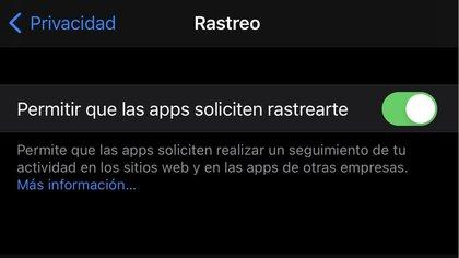 iOS 14.5 incluye una nueva función de privacidad