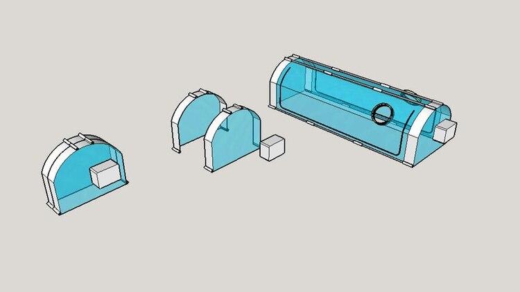 Cómo se puede guardar la cápsula como un maletín para su traslado