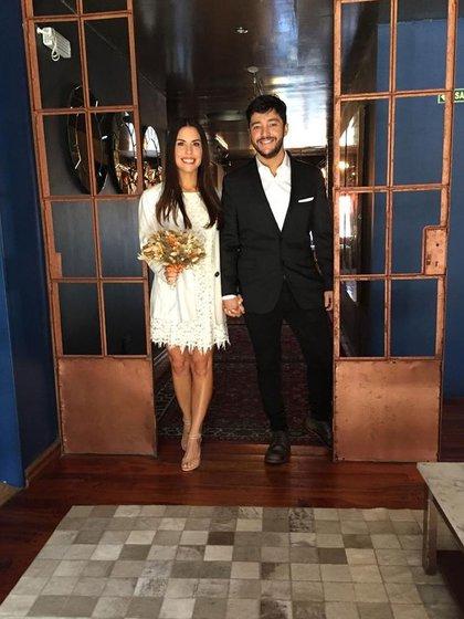 Florencia y Gustavo se casaron el día en el que cumplieron cuatro años de novios (Instagram)