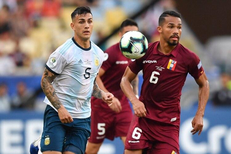 Leandro Paredes fue el único argentino presente en el once ideal de la Copa (Foto AFP)