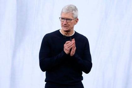 Imagen de archivo de Tim Cook, presidente ejecutivo de Apple (Foto: EFE)